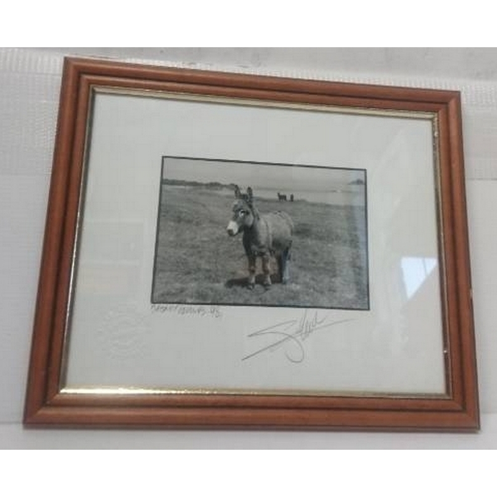 Preview of the first image of Giles Norman Blasket Islands, 1998 signed photograph print, wooden frame, RARE.