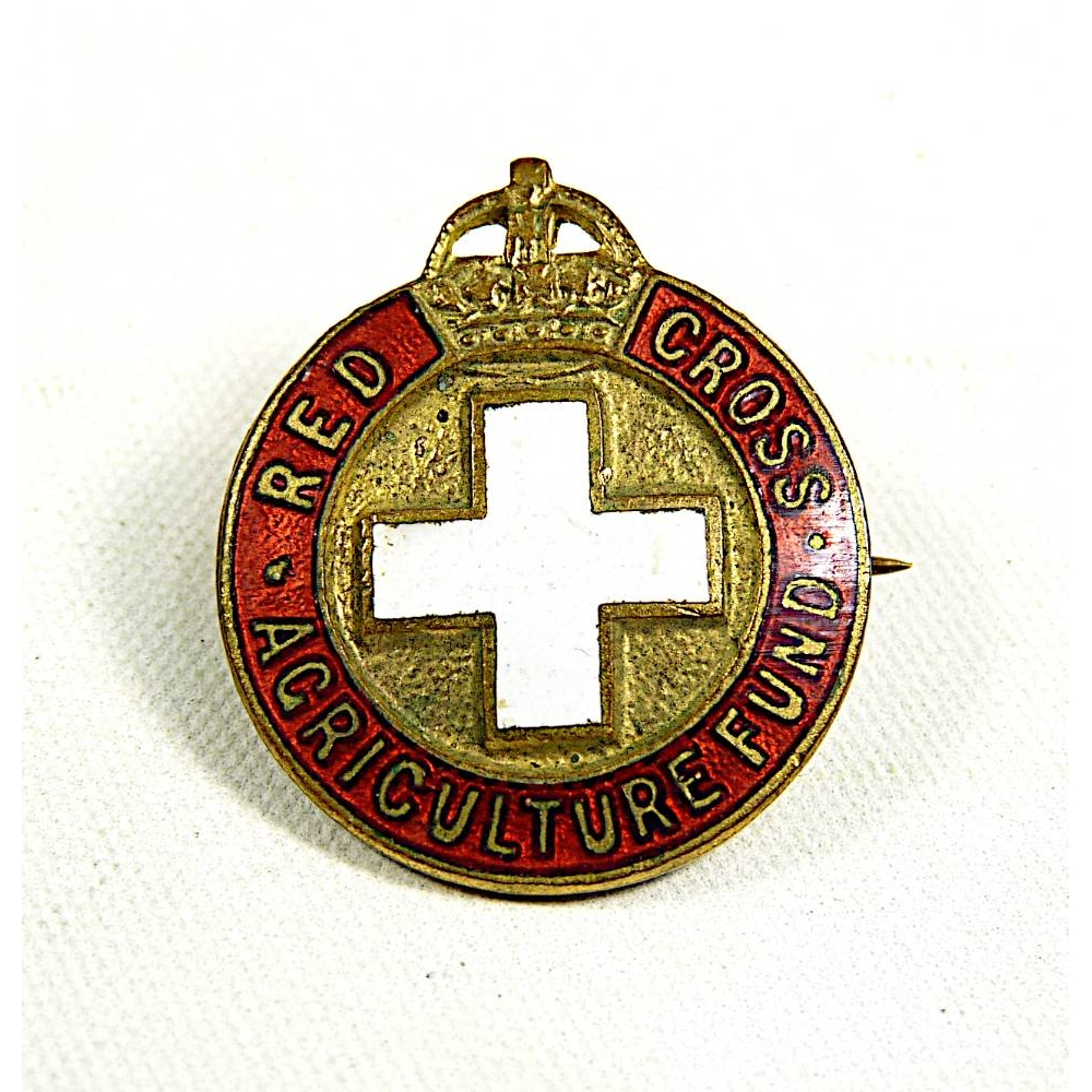 Preview of the first image of ww2 Red Cross Agriculture fund pin badge brooch.