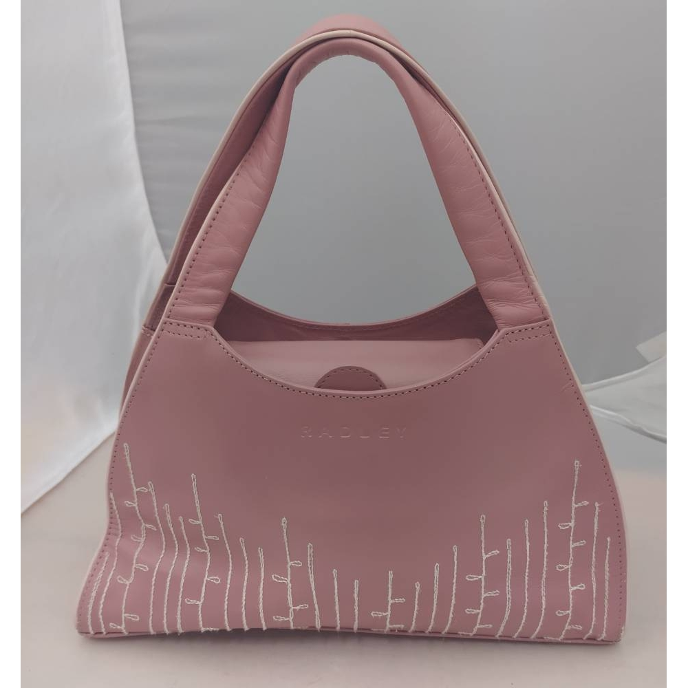 Preview of the first image of Radley Radley pink leather grab bag pink Size: S.