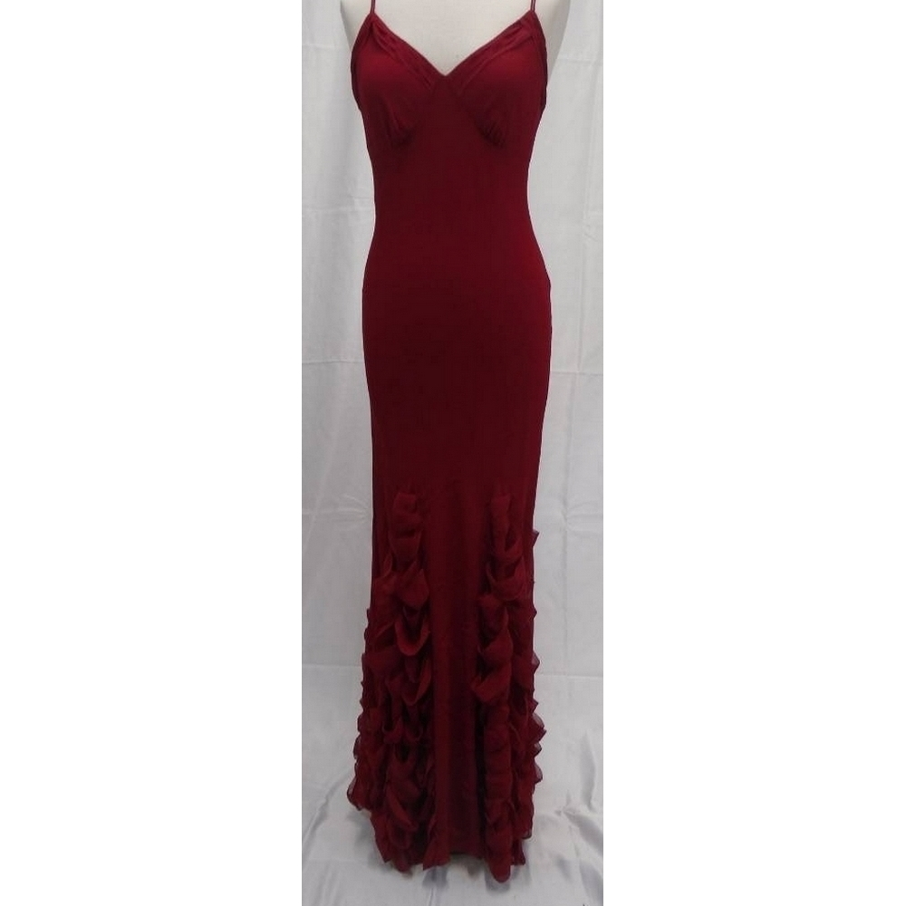 Preview of the first image of Coast Silk Evening Dress & Bag Red Size: 12.
