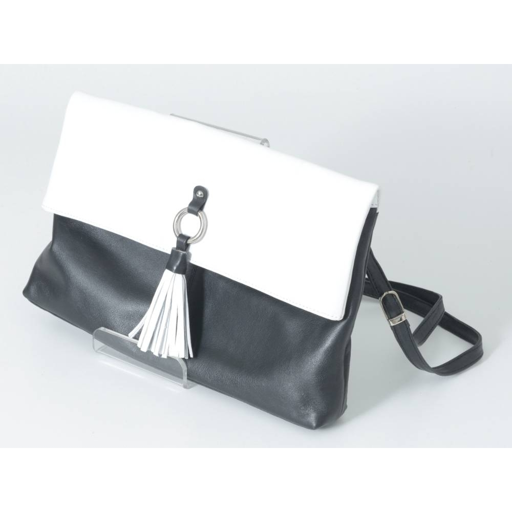 Preview of the first image of Dents Large Handbag Black and White Size: One size.