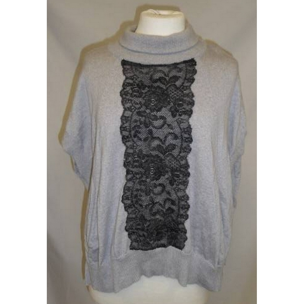 Preview of the first image of Karen Millen Sleeveless Jumper Grey Mix Size: XS.