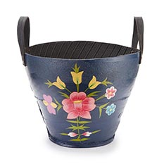 Navy Large Tyre Planter