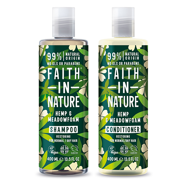 Faith in Nature Hemp Shampoo & Conditioner Twinpack