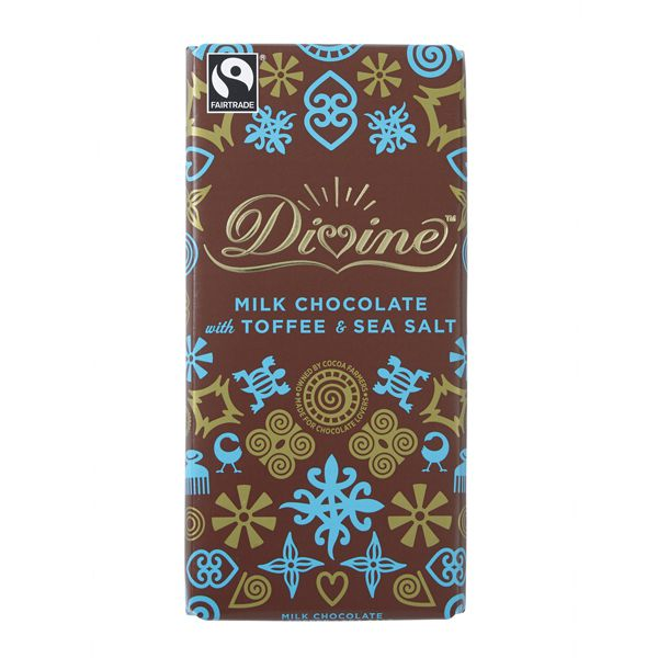 Divine Milk Chocolate with Toffee and Sea Salt: Case of 15 x 100g Bars