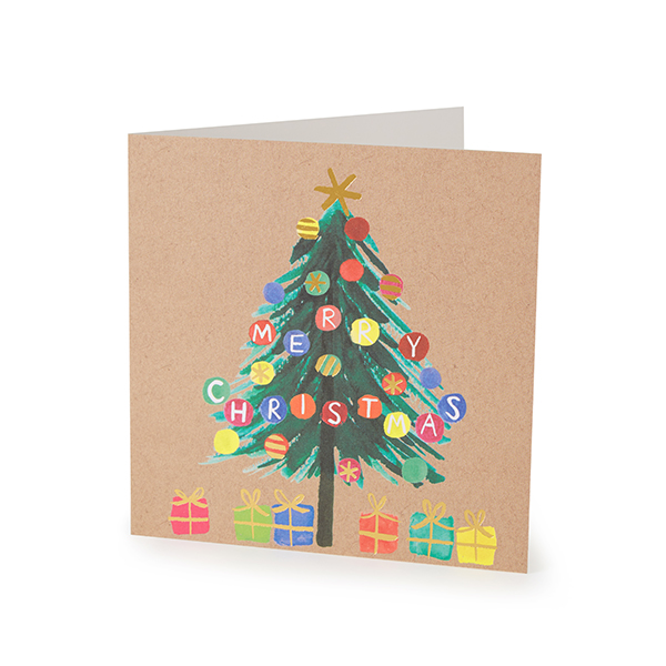 Oxfam Christmas Trees: Large Christmas Tree Christmas Card (10 Pack)