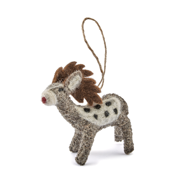 Oxfam Christmas Trees: Handmade Felt Rudolph Decoration