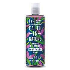Faith in Nature Lavender and Geranium Shower Gel and Foam Bath 400ml