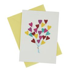 Heart Balloons Card (Single)