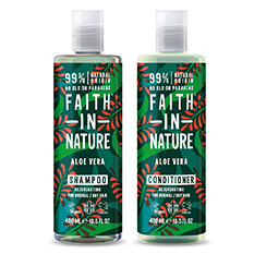 Faith in Nature Aloe Vera Shampoo and Conditioner Twinpack