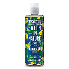 Faith in Nature Lemon and Tea Tree Shower Gel and Foam Bath 400ml
