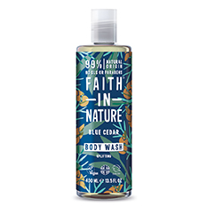 Faith in Nature Blue Cedar Shower Gel and Foam Bath 400ml