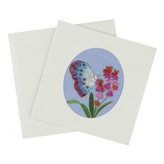 Embroidered Butterfly Card (Single)
