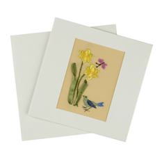 Embroidered Spring Card (Single)