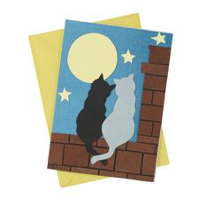 Two Cats Card (Single)