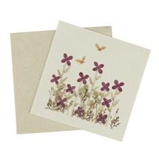 Pressed Flower Meadow Card (Single)