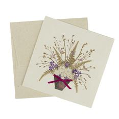 Pressed Flower Pot Card (Single)