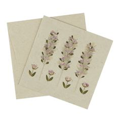 Pressed Flower Trees Card (Single)