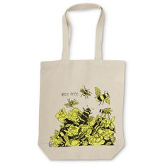 Bee Free Canvas Shopper