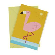 African Flamingo Card (Single)