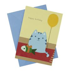 Cat on a Mat Card (Single)
