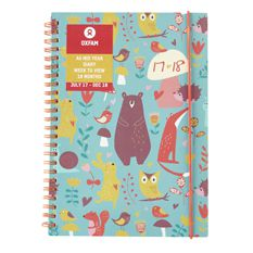 2017-2018 Woodland Animal Mid-Year Diary