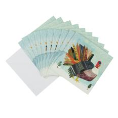 Turkey Christmas card (10 pack)
