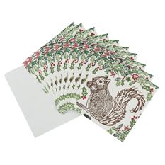 Large Squirrel Christmas card (10 pack)