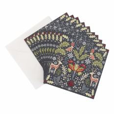 Large Folk Animals Christmas card (10 pack)