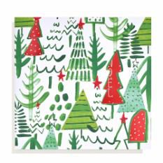 Large Tree Pattern Christmas card (10 pack)