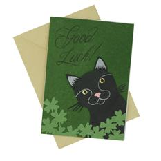 Good Luck Cat Card (Single)