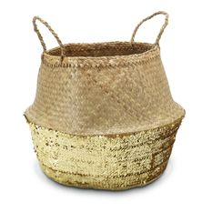 Medium Gold Sequin Basket