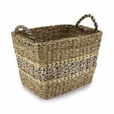 Large Hogla Leaf and Jute Woven Basket