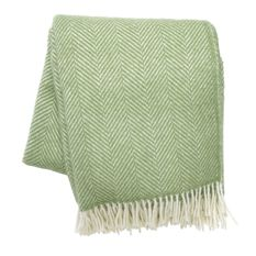 Sage Pure Wool Throw