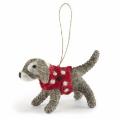 Handmade Felt Dog Decoration