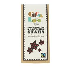 Dark Chocolate & Raspberry Stars Gift 100g