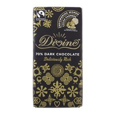 Divine Dark Chocolate 70%: Case of 15 100g Bars
