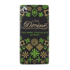 Divine Dark Chocolate with Mint: Case of 15 100g Bars