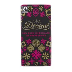 Divine Dark Chocolate with Raspberry: Case of 15 x 100g Bars