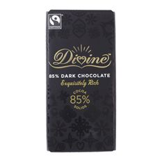 Divine Dark Chocolate 85%: Case of 15 x 100g Bars
