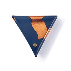 Navy Samosa Coin Purse