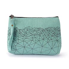 Mint Geo Make Up Bag