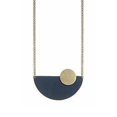 Navy Semi Circle necklace