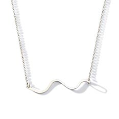 Eco Silver Wave Necklace