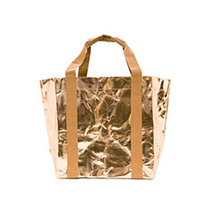 Rose Gold Paper Tote Bag