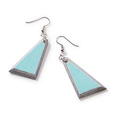 Recycled Paper Mint Earrings