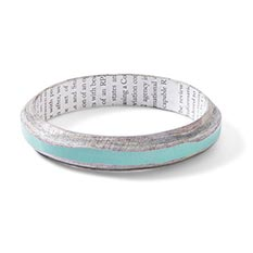 Recycled Paper Mint Bangle