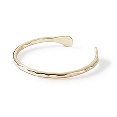 Hammered Brass Bangle