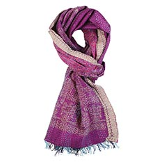 Purple Sari Scarf