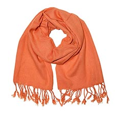 Orange Tassel Scarf